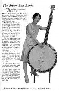Gibson Bass Banjo ad 1930